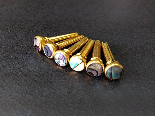 手工彩色貝殼銅釘 (木結他專用)
