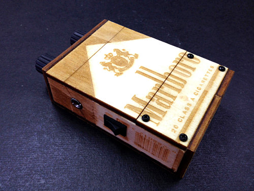 Marlboro Wooden Box Mini Amp