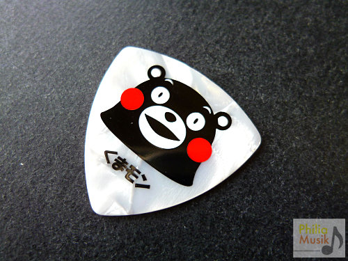 日本熊本熊白色賽路結他Pick KUMAMON white sparkle