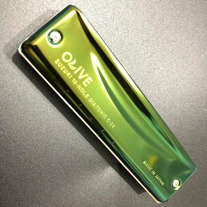 日本製 Suzuki C20 Olive 口琴