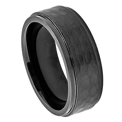 Black Cobalt Ring, Wedding Band  8mm
