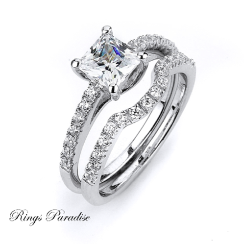 Sterling Silver Engagement Ring, Bridal, CZ Stone