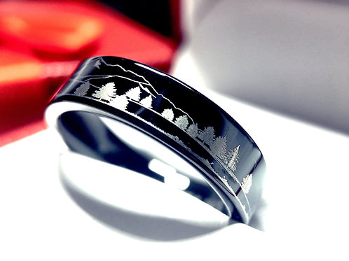 Custom made Ring, Wedding bands, engagement Ring, Wedding Bands,wedding Rings, Black Wedding Bands