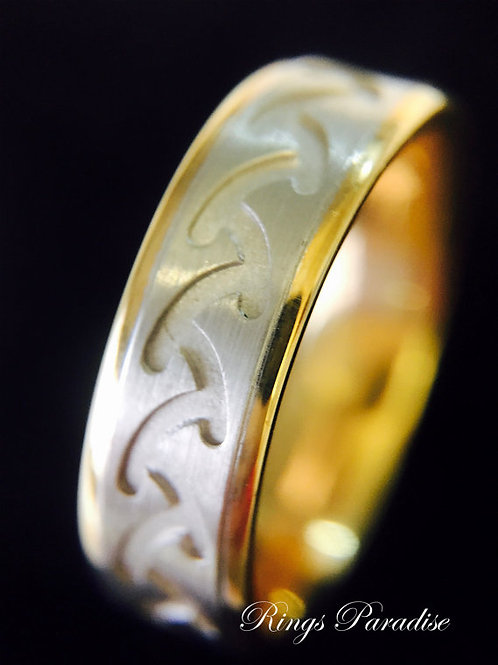 Irish Rings Set, Men's Women Wedding Band