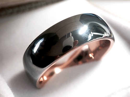 Domed Tungsten Wedding Band, His and Her Promise Ring 8mm