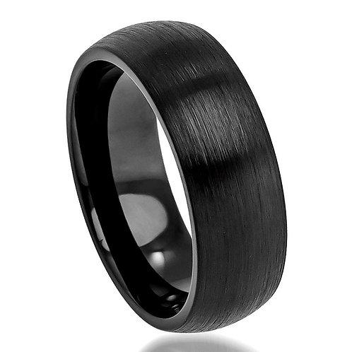 Black Cobalt Ring, Anniversary Band 8mm