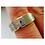 Thumbnail: Yellow Gold Tungsten Wedding Band, Crosses Design Engraved Ring, Wedding Ring