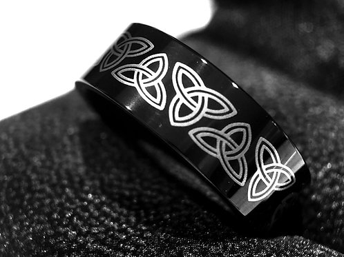 Celtic Ring, Tungsten Wedding Bands, Tungsten Ring, His and Her Promise Ring, Women Wedding Band, Mens Celtic Wedding Bands,