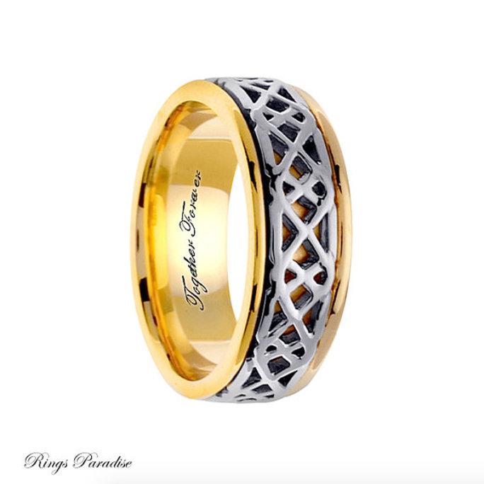 14k Gold Celtic Wedding Bands