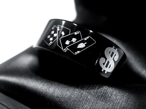 Wedding Bands, Casino Ring, Women Tungsten Ring, Men's Tungsten Carbide Ring, Engagement Rings, Black Tungsten Ring, Vegas