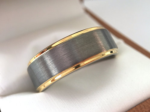 Mens Tungsten Ring, Wedding Bands,Tungsten Wedding Rings, His and Her Rings