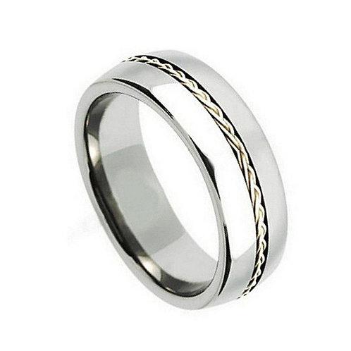 Titanium Ring , Engagement Band - 8mm