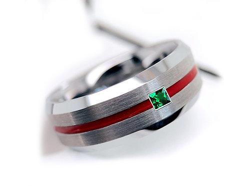 Mens ring, Mens Wedding Band, Groom ring, Mens Engagement Ring, mens Gift, Ring for husband, ring for boyfriend, emerald ring
