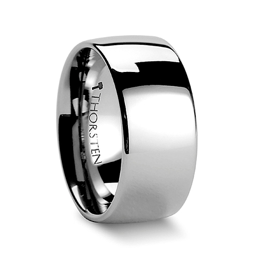 Domed Tungsten Carbide Ring with Polished Finish