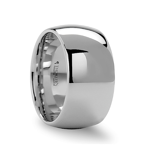Domed White Tungsten Engagement  Ring  12mm