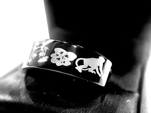 Black Tungsten Ring, Wedding Band, Men Women Ring, Engagement Ring, Black Ring