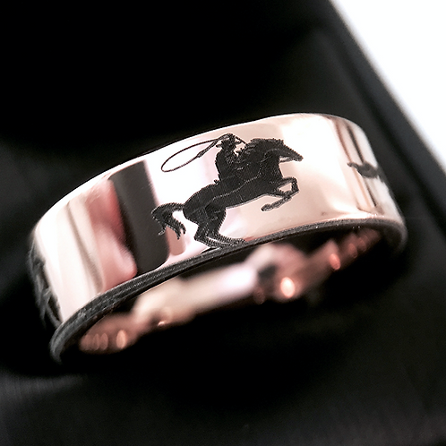 Horses Jewelry, Wedding Band, Mens Wedding Bands, Mens Tungsten Ring , Rose Gold Wedding Bands, anniversary Ring, Engagement