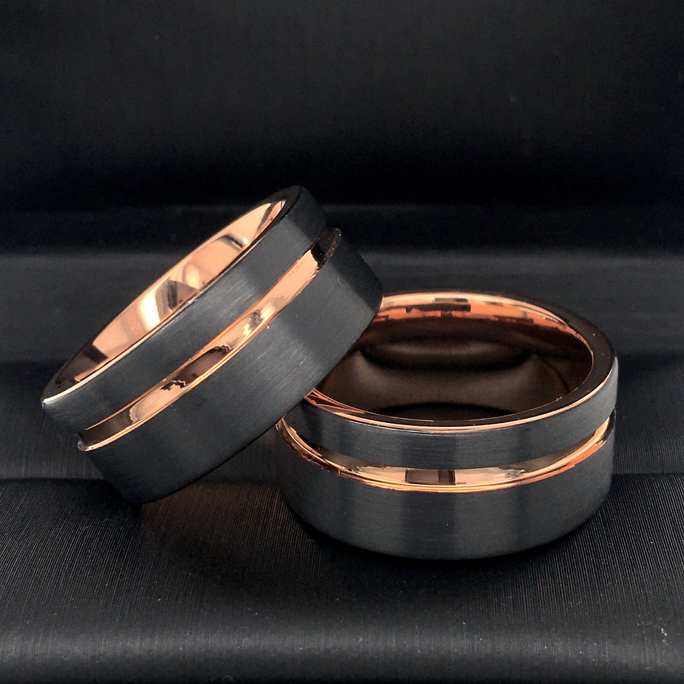 a4f09a97ce9f8 Matching Rings Set, Mens Ring, Ring for Women, His and Her Promise Rings