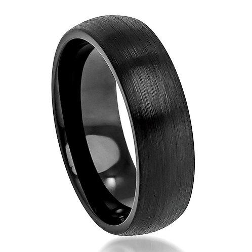 Black Cobalt Ring, Anniversary Band 6mm