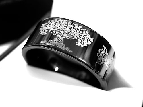 Custom Engraved Wedding Bands, Man Tungsten Ring, Man Wedding Bands, Engagement Rings, Black Tungsten ring, Wedding bands