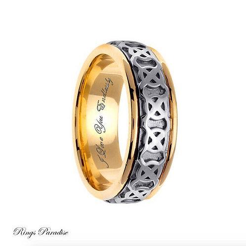 14k Gold Celtic Wedding Band