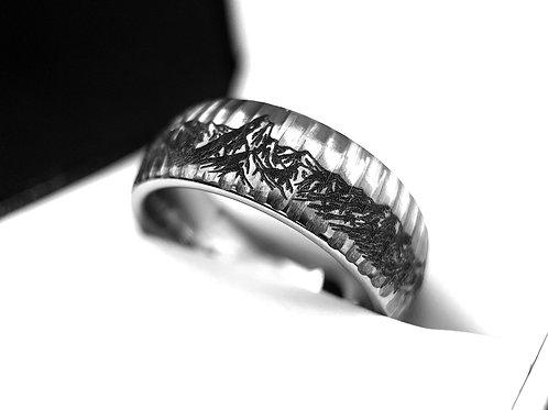 Mountains Ring, tungsten Ring, Mens Wedding Bands, mens promise Ring, His Promise Ring, wedding Bands, Wedding Ring, Gift