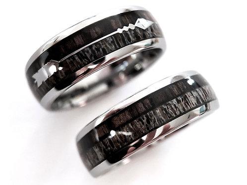 Antler Wedding Bands, Mens Antler Ring , Antler Jewelry, Rings Paradise, Mens Engagement Ring, Anniversary  Ring,  Wood Ring