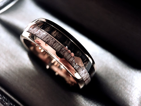 Rose Gold Tungsten Carbide Wedding Bands, Mens Women Wedding bands, Engagement Rings by Rings Paradise