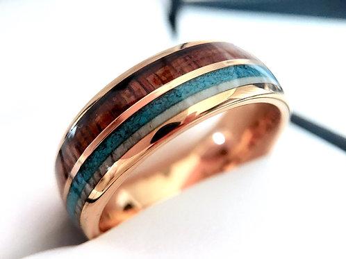 Deer Ring, Antler Ring, Wedding Bands, Mens Rose Gold Tungsten Wedding Bands, Mens Tungsten Wedding Bands Women Tungsten Ring