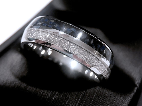 Meteorite ring, Mens Meteorite Ring, Mens Wedding Bands, Lapis Ring, Wedding Ring, Women Wedding Ring