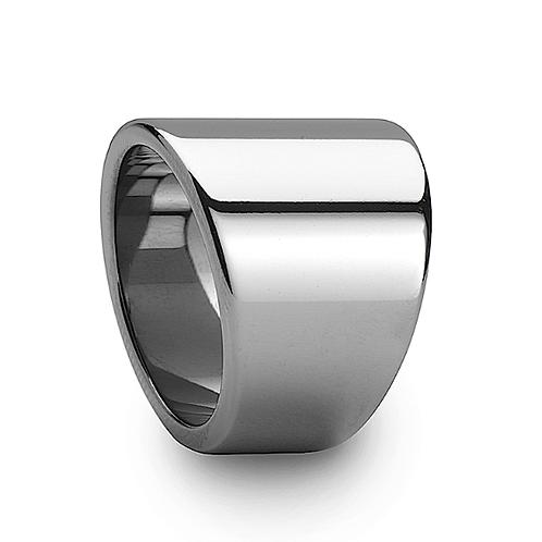 Flat Tungsten Carbide Ring, Asymmetrical Widths