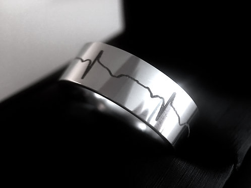Tungsten Wedding Bands, Heartbeats Ring, Women Wedding Bands, His and Her Promise Rings, Wedding Bands Set, Heartbeats Weddin