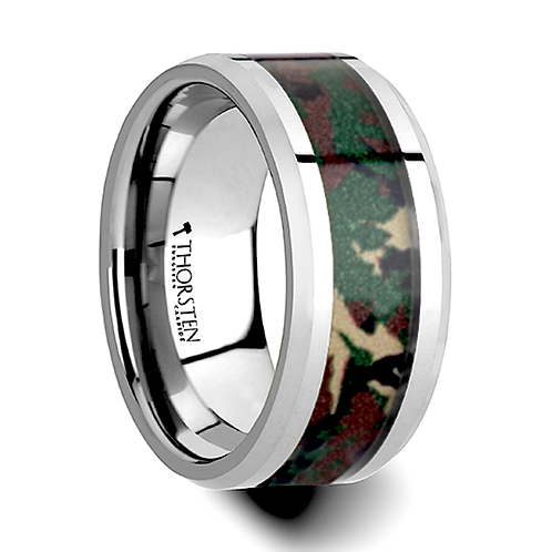 Tungsten Band Military Style -10mm