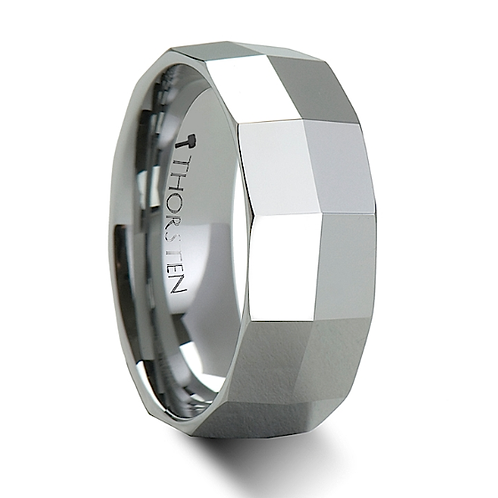 Tungsten Wedding Band, Engagement Ring  - 8mm