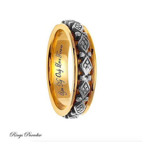 14k Gold Celtic Wedding Bands