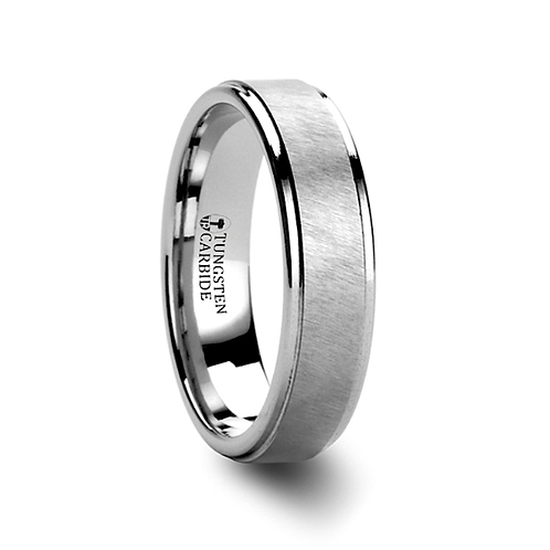 Tungsten Carbide Ring with Etched Finish  6mm-8mm