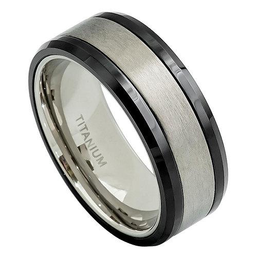 Titanium Ring, Anniversary Ring, Wedding Band  8mm