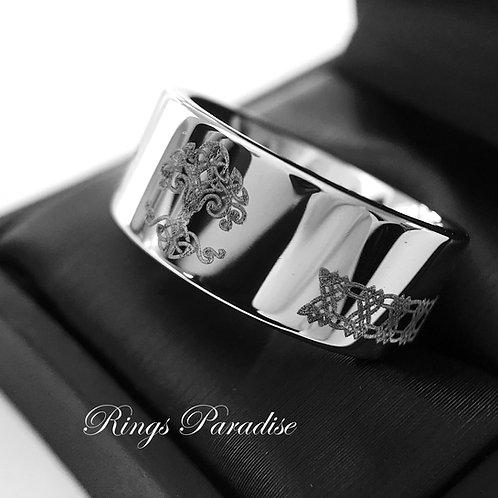 Tree of Life Ring, Celtic Wedding Band, Love Knot Ring, Mens Women Scottish Ring, Men Celtic Ring, Authentic Celtic Ring, Cel