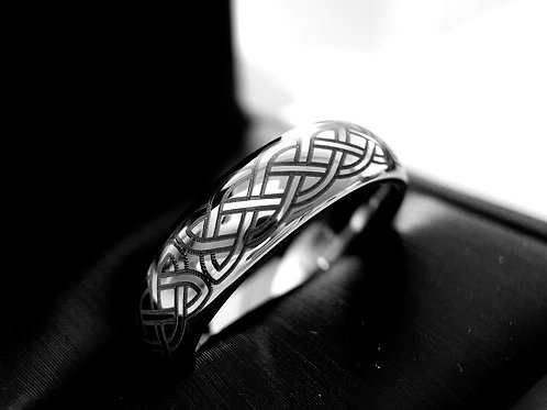 Cetic Ring, Tungsten Wedding Bands, Mens and Women Celtic Ring 6mm, 8mm