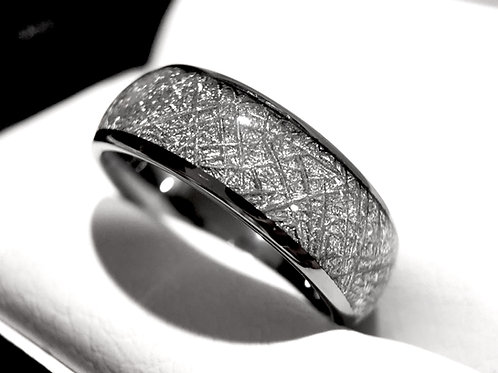 Meteorite Ring, Meteorite Jewelry, Mens Meteorite Ring, Women Meteorite Ring, Tungsten Wedding Bands, Matching Rings Set