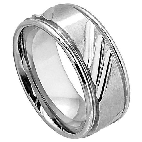 Cobalt Wedding Band, Anniversary Ring 9mm