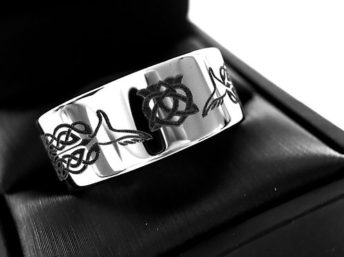 Claddagh  Wedding Bands, Celtic Wedding Band, Men's Women Celtic Ring, His Her Promise Ring, Claddagh Rings, Celtic Jewelry,