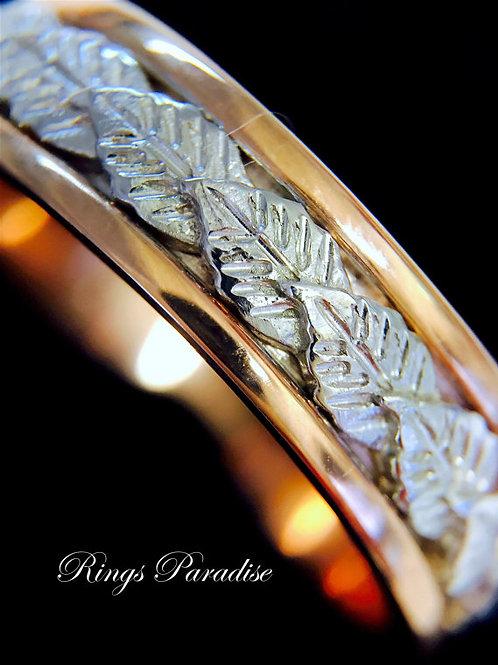 Wedding Bands, Leaf Design Engagement Ring