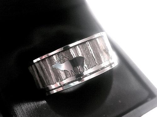antler ring deer antler wedding bands mens antler ring his promise ring - Deer Antler Wedding Rings