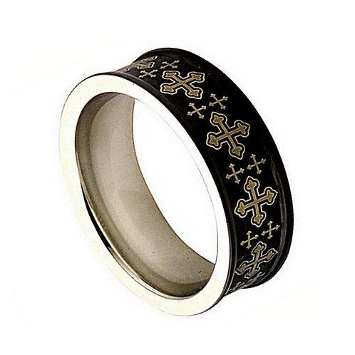 Cobalt Ring, Wedding Band, Anniversary Ring  8mm