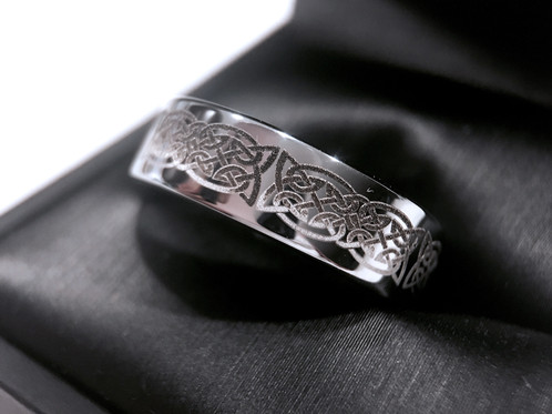 Celtic Ring Tungsten Wedding Bands His And Her Promise Women Band Mens Engagement