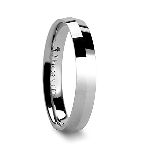 Knife Edge Tungsten Carbide Engagement  Ring -4mm