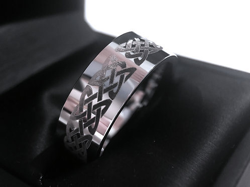 Celtic Ring, Tungsten Wedding Bands, Tungsten Ring, His and Her Promise Ring, Women Wedding Band, Mens Wedding Band, Celtic