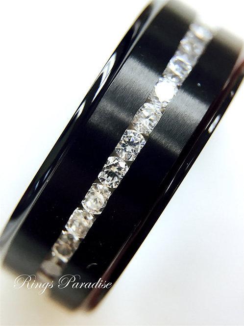 Men's Titanium Wedding Band, Titanium Wedding Ring, Titanium, Black Titanium Ring, Titanium Rings, by Rings Paradise