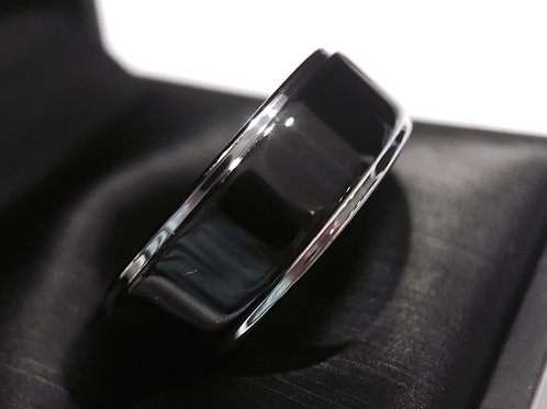 Black Mens Tungsten Wedding Band, His and Hers Promise Ring, Tungsten Rings, Mens Tungsten Ring, Mens Engagement Ring, Women